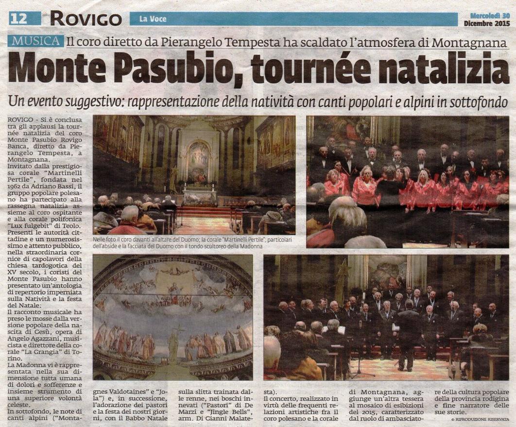 Monte Pasubio, tournée natalizia