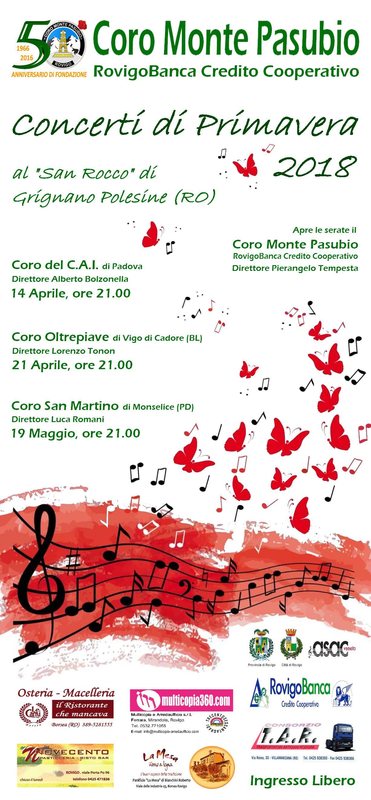Concerti di Primavera 2018