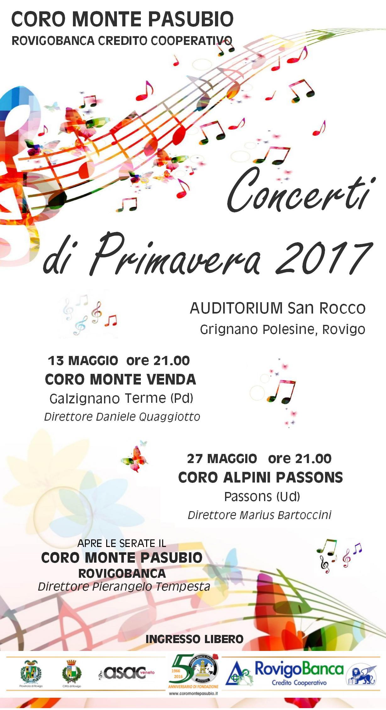 Concerti di Primavera 2017